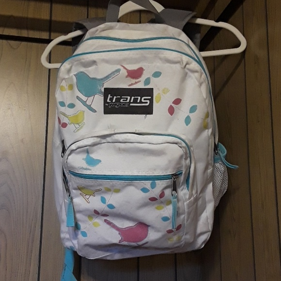 Trans Jansport backpack and Mead Brights binder